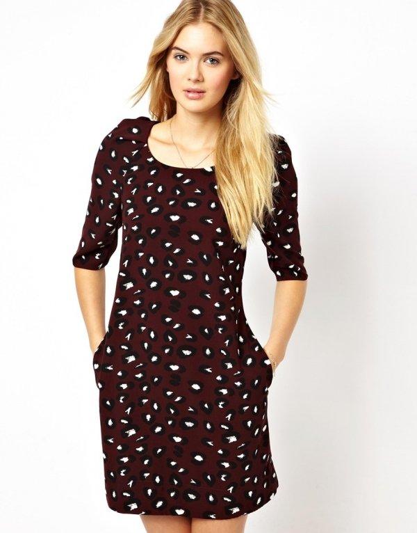 ASOS – Closet Shift Dress in Leopard Print