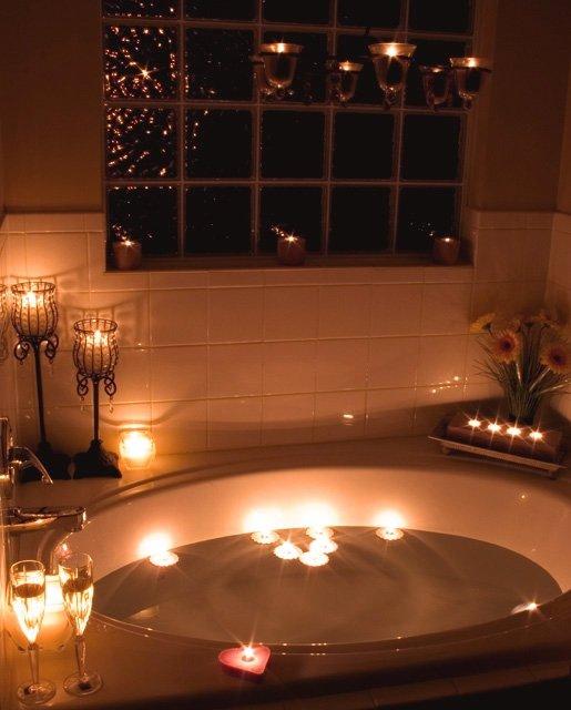 Lavender Lit Bath