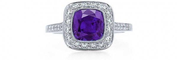 Tiffany Legacy Purple Sapphire Ring