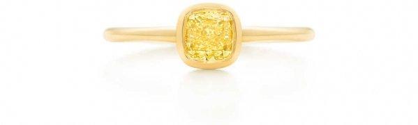 Tiffany Bezet Yellow Diamond Ring