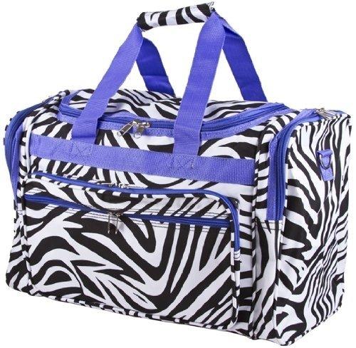 Zebra Duffle Gym Cheer Bag