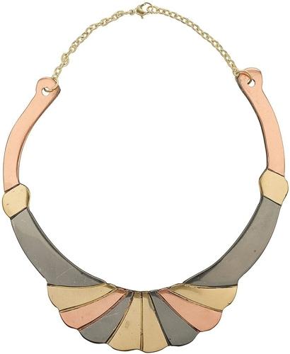 Topshop Deco Mixed Metal Torque Necklace