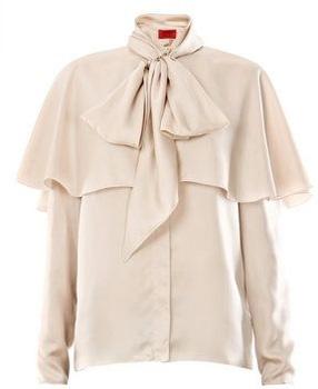 Lanvin Silk Twill Bow Blouse