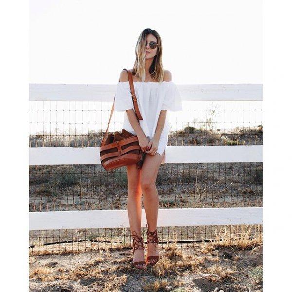 clothing, brown, dress, pattern, footwear,