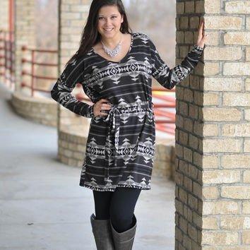 Aztec Sweater Dress