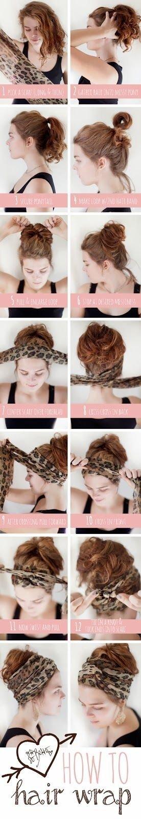 Messy Bun Hair Wrap