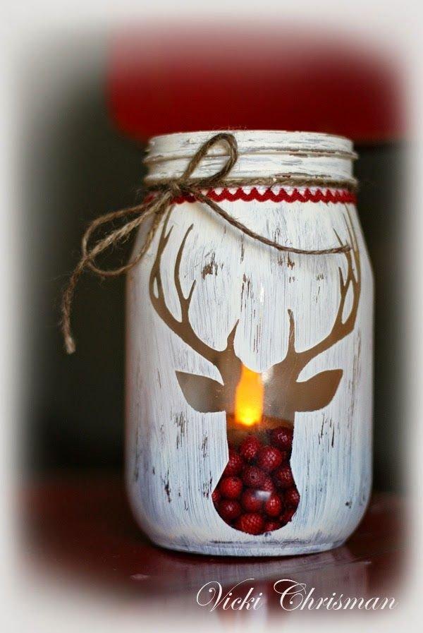 Distressed Reindeer Ornament