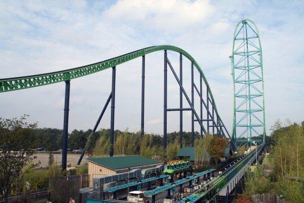 The Kingda Ka Roller Coaster in New Jersey, USA