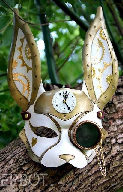 Steampunk White Rabbit Mask