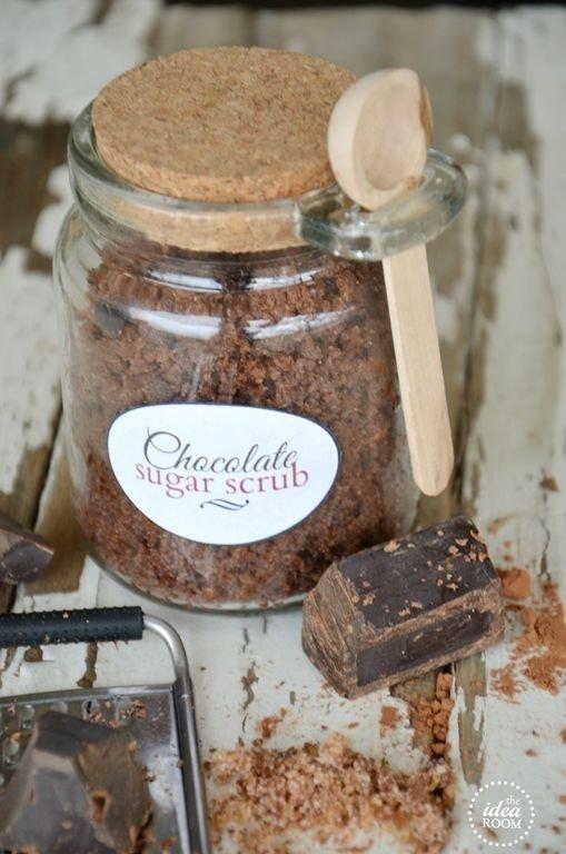 Homemade Chocolate Sugar Scrub