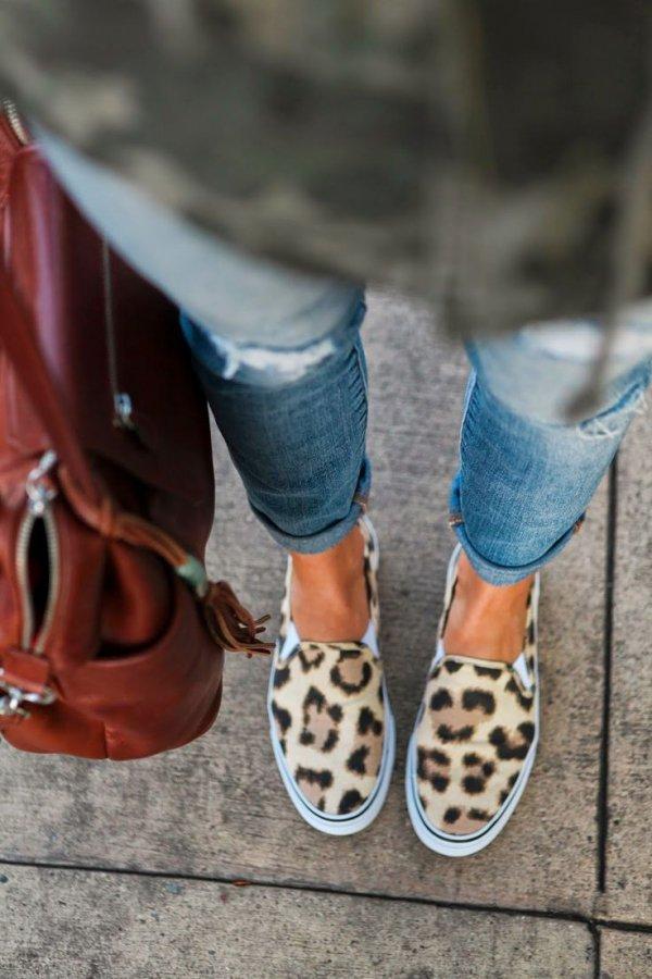 Leopard Slide Ons