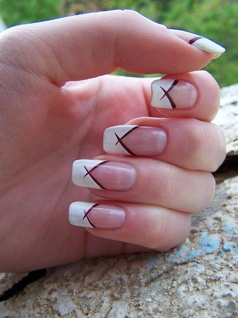 Crisscross 62 Fabulous French Tip Designs Nails