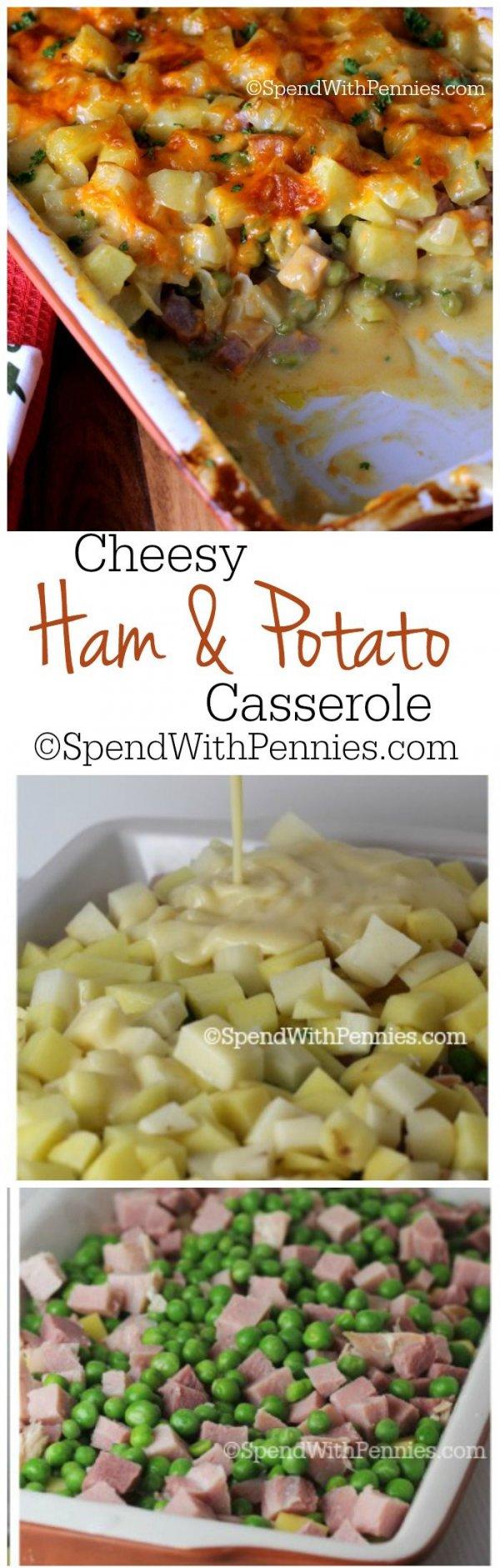 Potatoes, Ham and Peas