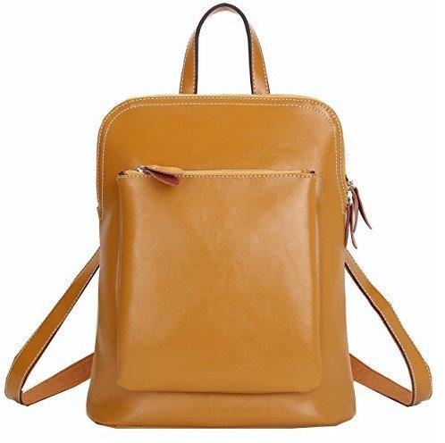 Fashion Genuine Leather School Girl Backpack
