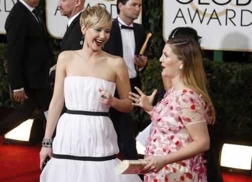 Jennifer Lawrence & Drew Barrymore