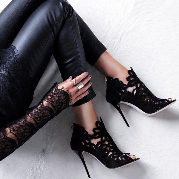 footwear, high heeled footwear, clothing, leg, leather,
