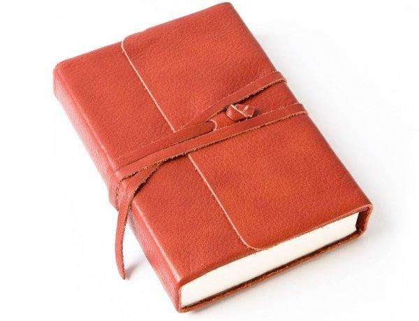 Cavallini Leather Journal, 3.25 X 4.25 Inch, Persimmon