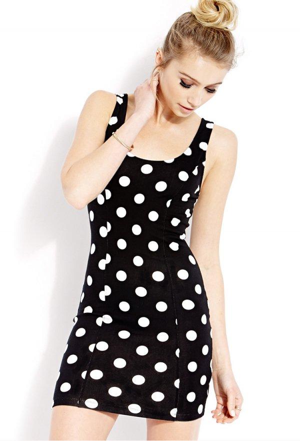 Spot on Scoop-Neck Dress