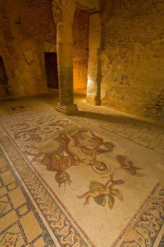 Mosaic of Venus and Centaurs, Bulla Regia, Tunisia