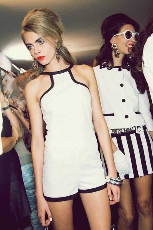 White and Black Romper