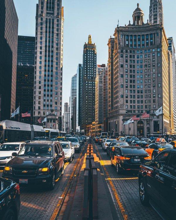 metropolitan area, skyscraper, metropolis, road, city,