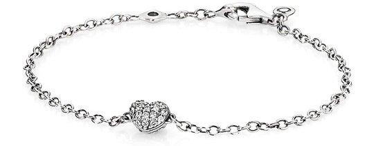 Pave Heart Bracelet