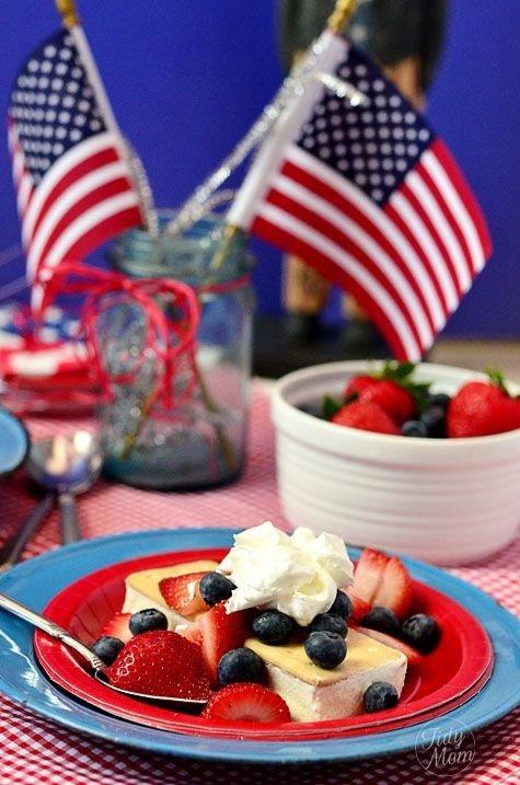 Patriotic Shortcake Ice Cream Sandwich