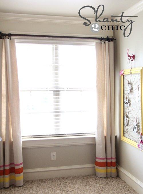 Striped Window Panels