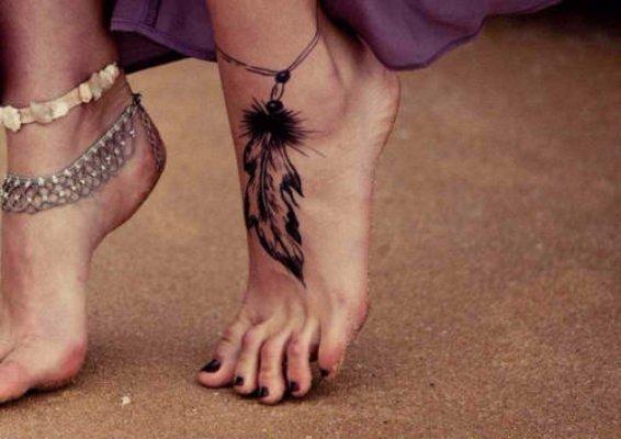 Feather Ankle Bracelet