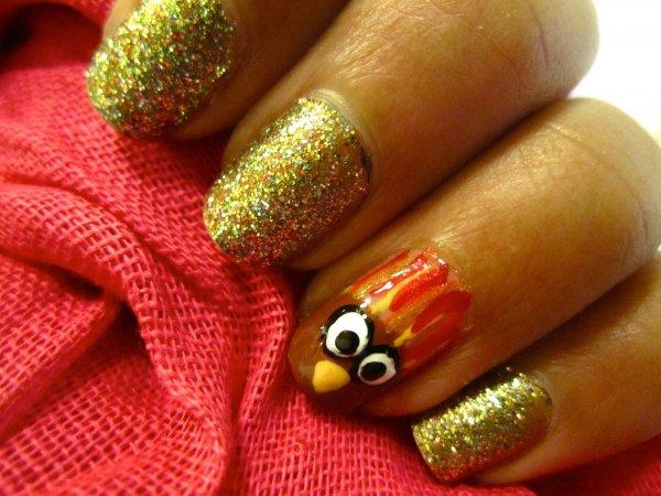 Glittery Turkey