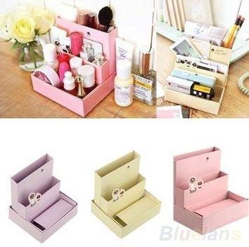 Foldable Mini DIY Paper Board Storage Desk