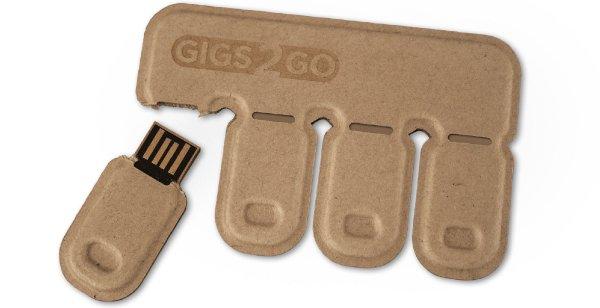 Gigs 2 Go Flash Drive Pack, 16GBx4 (64GB)