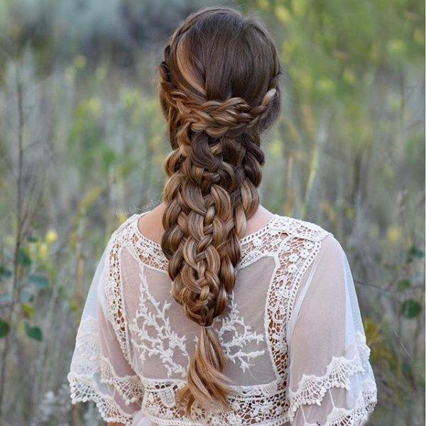 hair, hairstyle, woman, long hair, french braid,