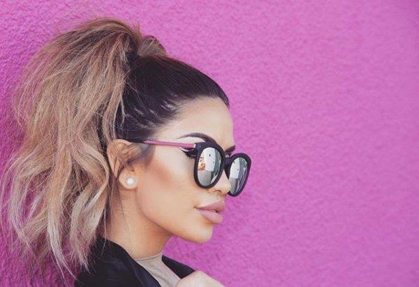 clothing, hair, eyewear, pink, vision care,