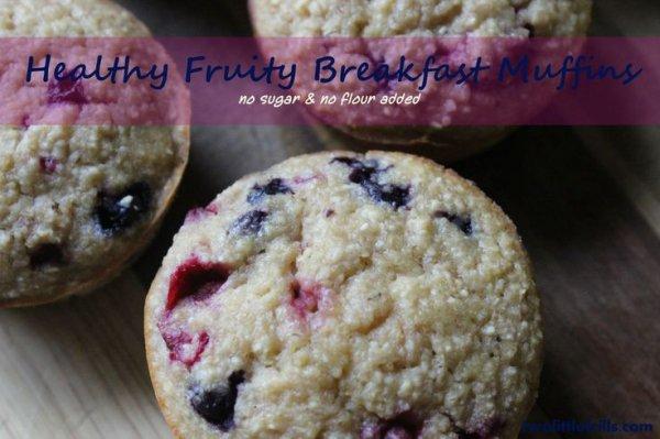 Healthy Fruity Breakfast Muffins