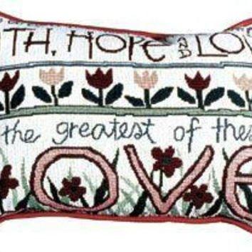 """Corinthians 13 """" 13 """" Quote Throw Pillow"""
