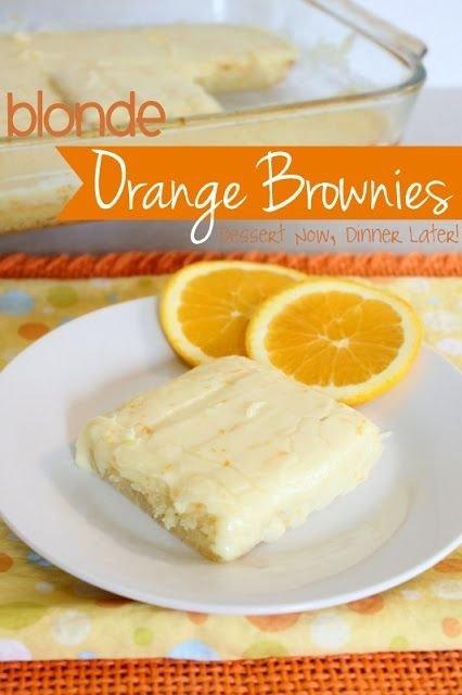 Blonde Orange Brownies