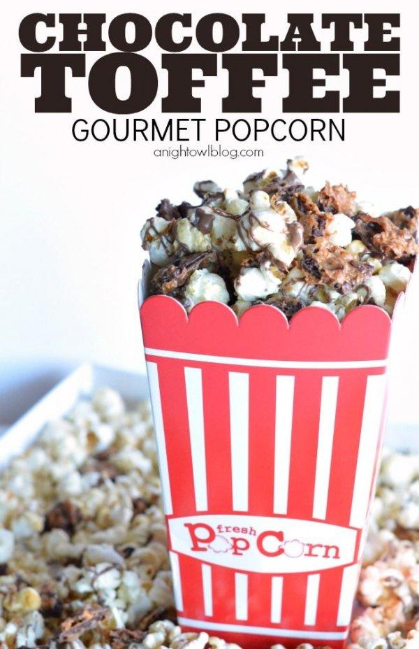 Chocolate Toffee Gourmet Popcorn