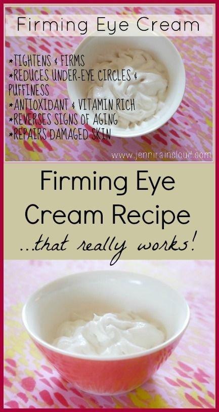 Homemade Natural Firming Eye Cream