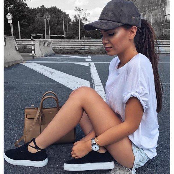 footwear, clothing, human positions, sitting, leg,