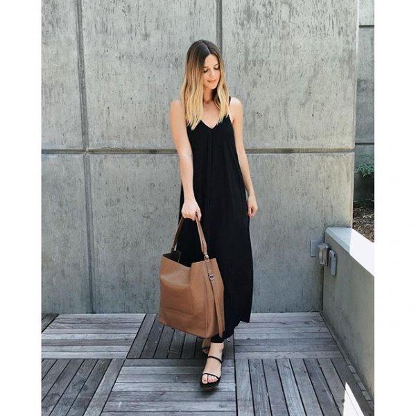 black, clothing, dress, sleeve, footwear,