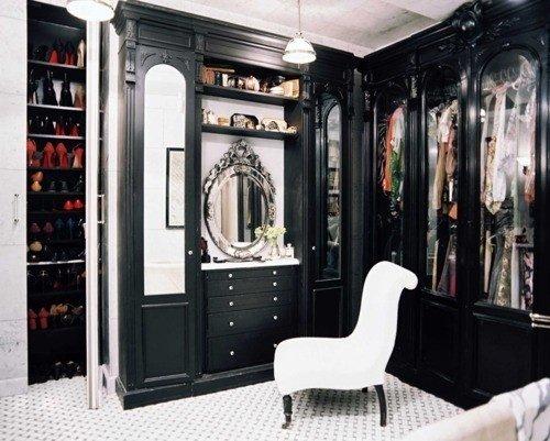 Black and Glam Closet