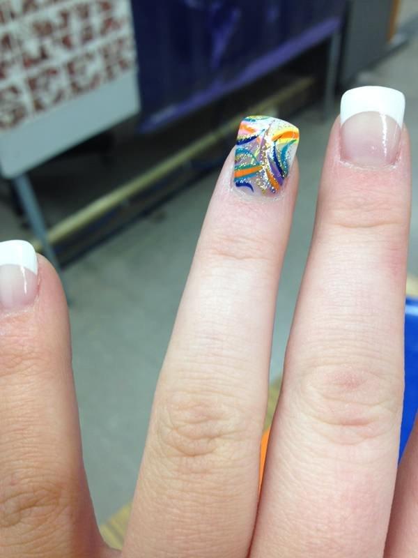 nail, color, finger, blue, hand,