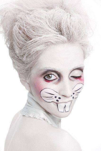 Scary Rabbit Face Paint