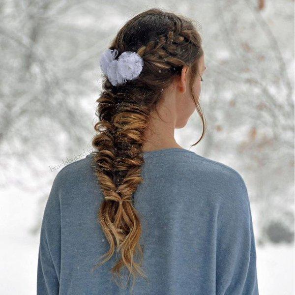 clothing, hair, hairstyle, long hair, braid,
