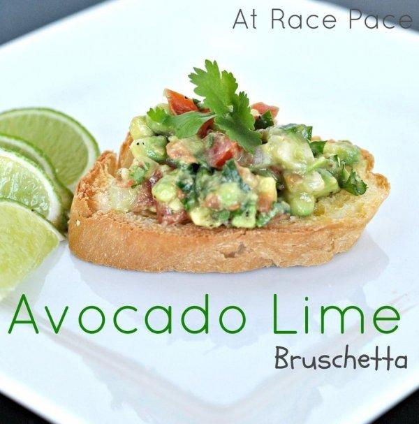 Avocado Lime Bruschetta