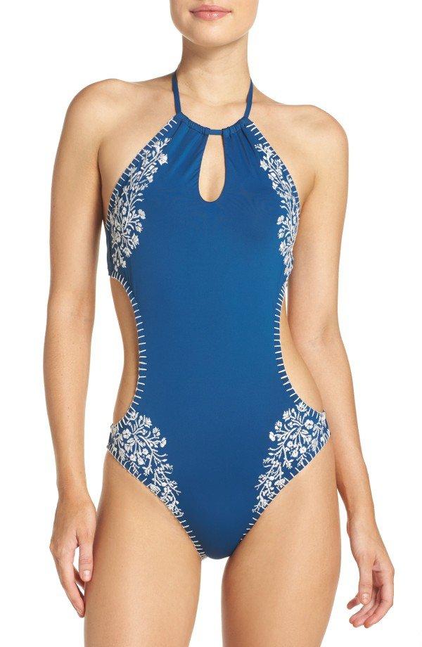 one piece swimsuit, swimwear, clothing, maillot, swimsuit bottom,