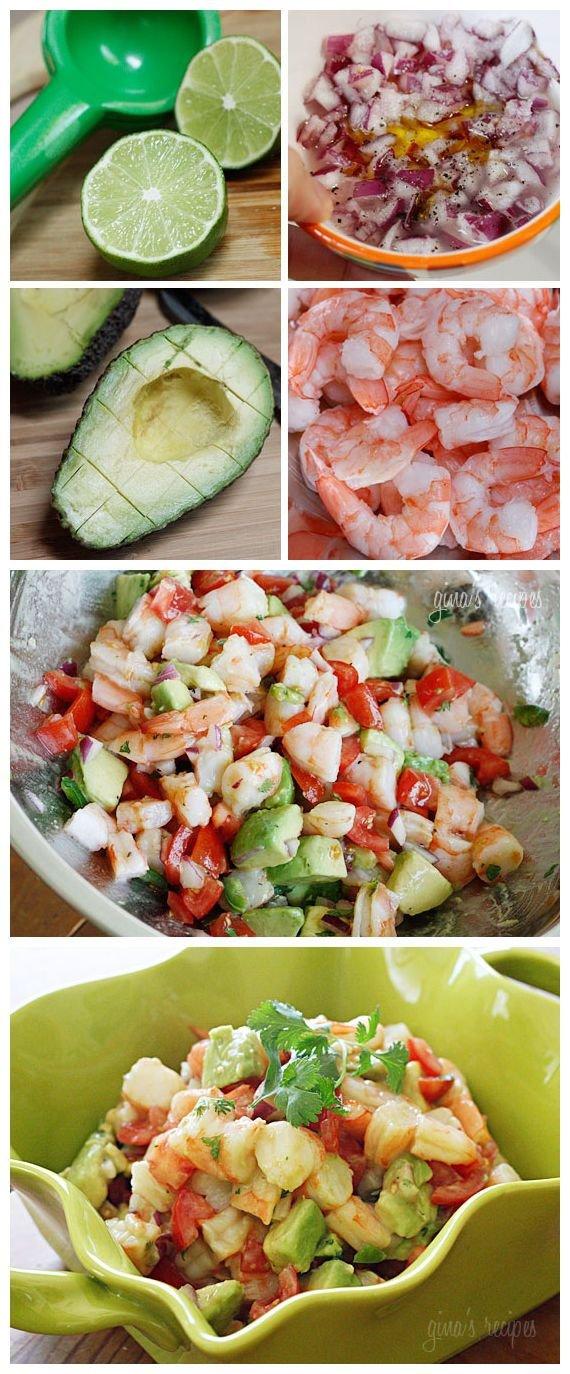 Zesty Lime, Shrimp Avocado Salad