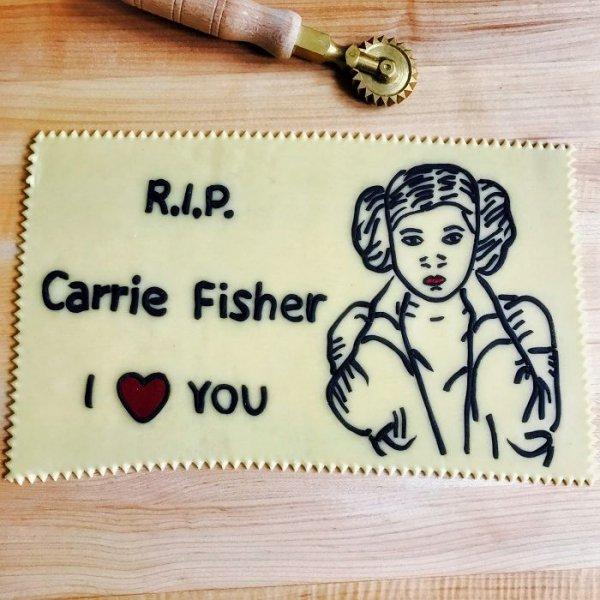 art, food, dessert, Carrie, Fisher,