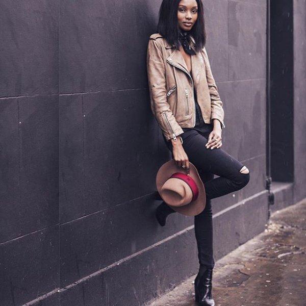 black, clothing, footwear, lady, leather,